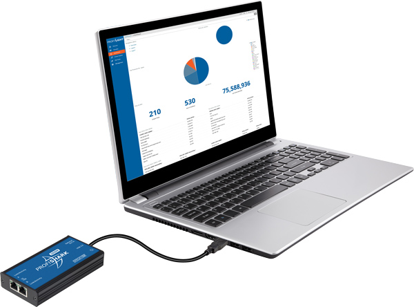 ProfiShark Connected to the LapTop