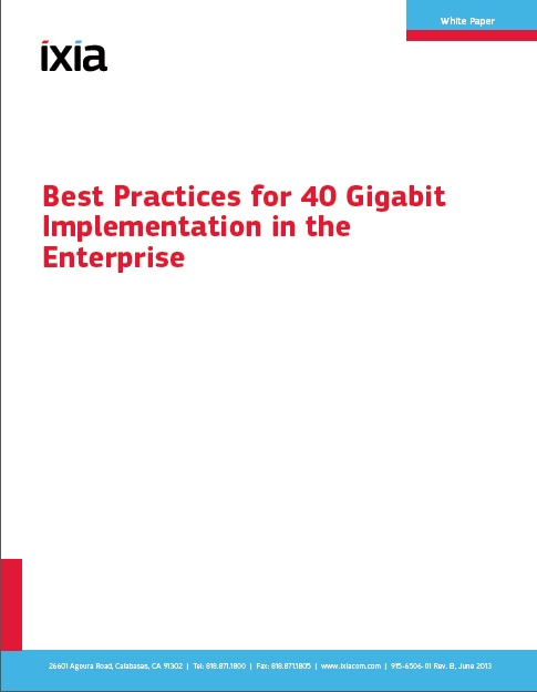Best Practices for 40 Gb Implementation