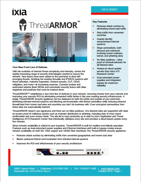 ThreatArmour Data Sheet