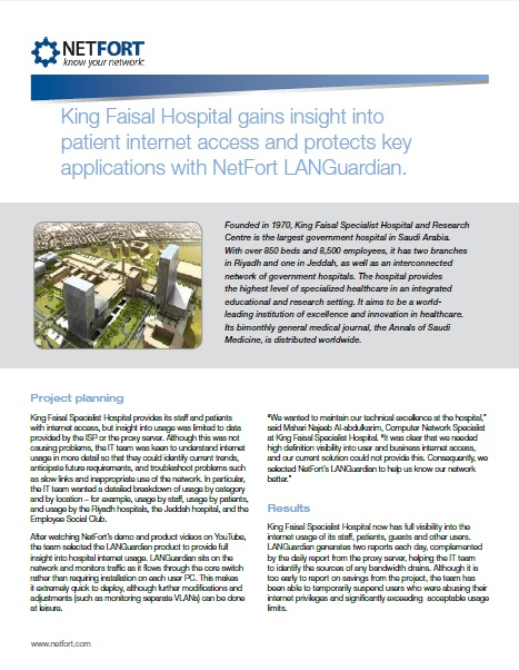 King Faisal Hospital Case Study