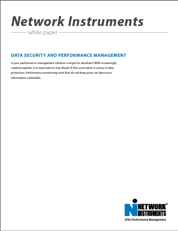 Network Instruments Data Security and Performance Management
