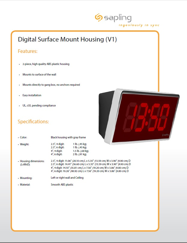 Digital Surface Mount Housing