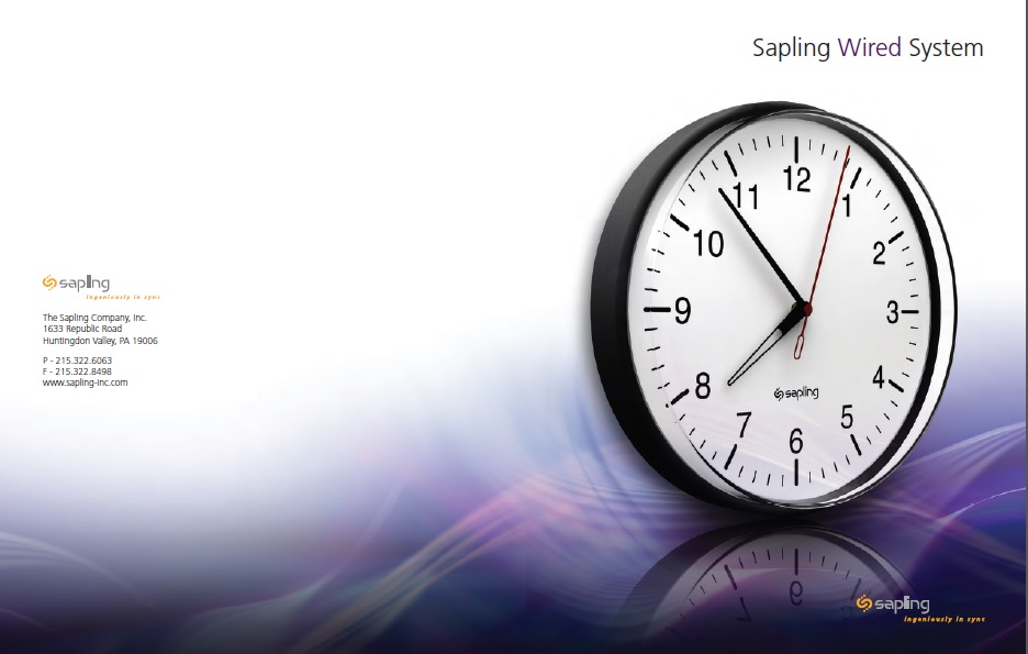 Sapling 2-Wired Clock System Brochure