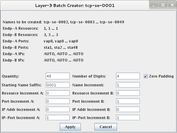 LANforge Layer 3 Batch Creator
