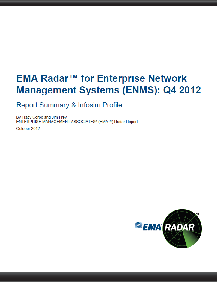 EMA Radar for Enterprise Network Management Systems