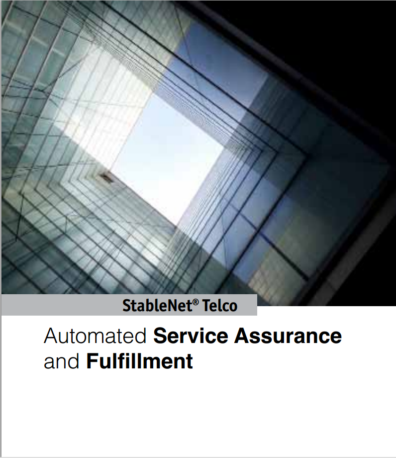 Infosim StableNet Telco Automated Service Assurance and Fullfillment