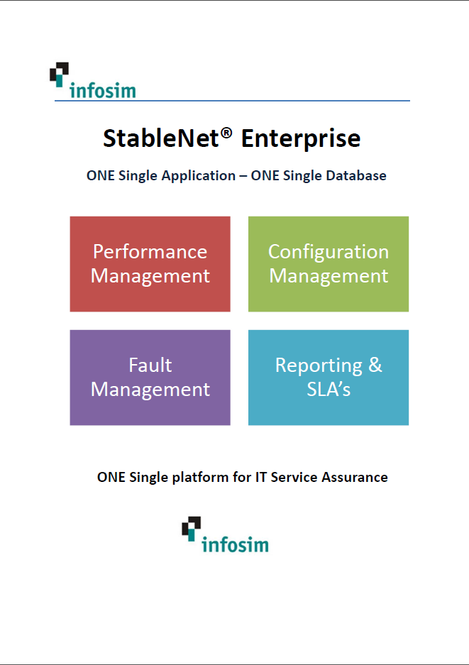 Infosim StableNet Enterprise Overview