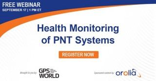 Webinar - Health Monitoring of PNT Systems