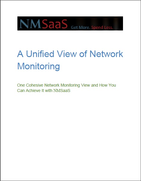 NMSaaS Unified View of Network Monitoring