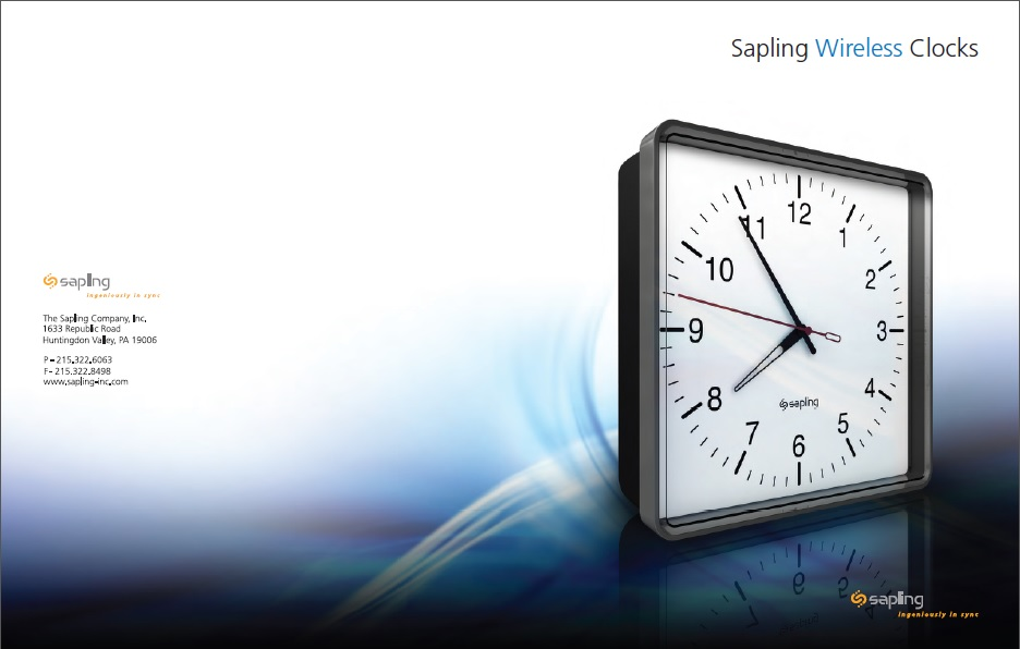 Sapling Wireless Clock Brochure