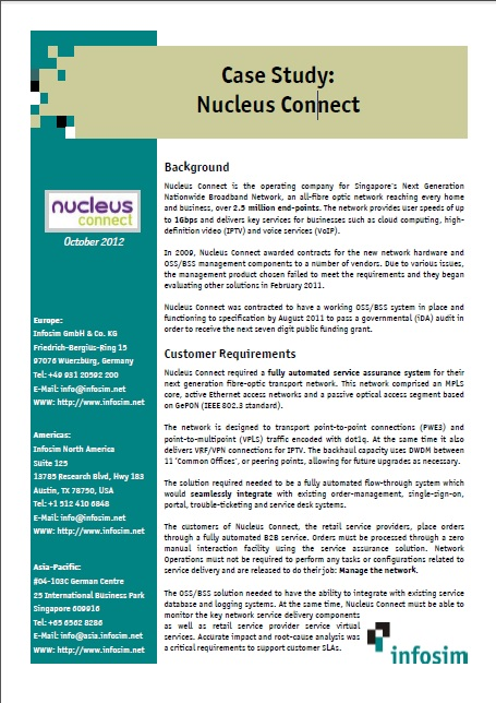Infosim Case Study- Nucleus Connect