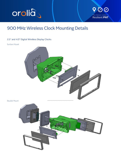 900 mhz wireless clock mounting details