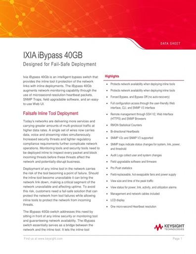 iBypass40g Datasheet