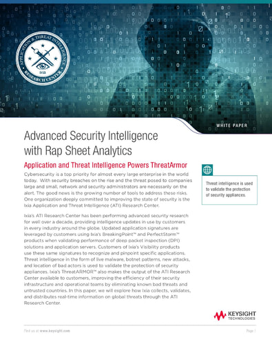 Advanced Security Intelligence with Rap Sheet Analytics